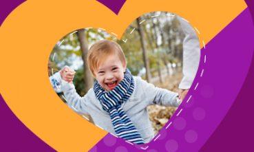 תינוק לבבי עם תסמונת דאון